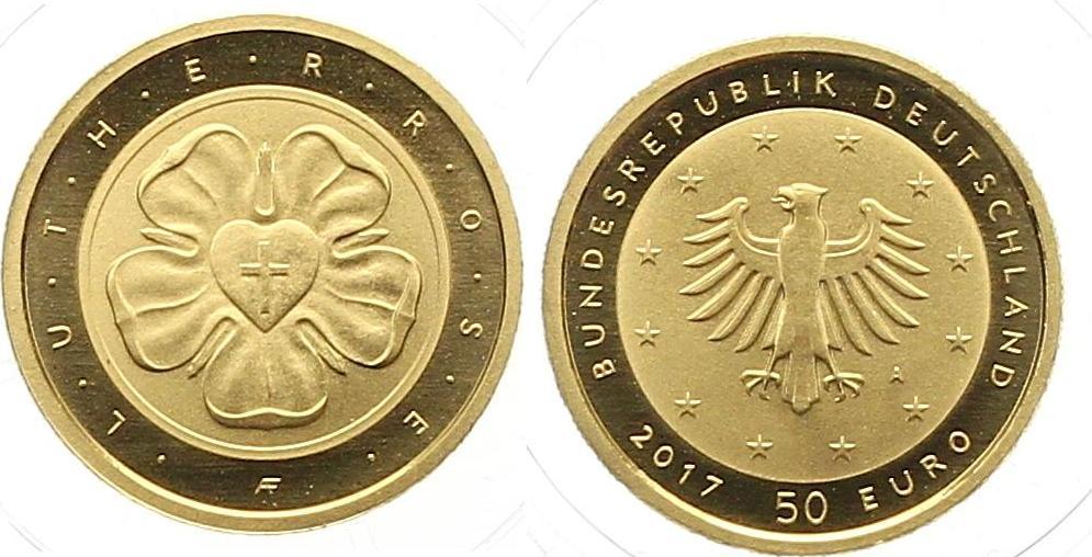 50 Euro Gold 2017 A Münzen Der Bundesrepublik Deutschland Euro