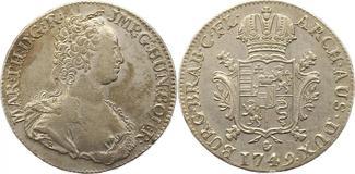 Dukaton 1749 Haus Habsburg Maria Theresia 1740-1780. Sehr schön - vorzüglich