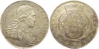 Taler 1800 Sachsen-Albertinische Linie Friedrich August III. 1763-1806. Sehr schön - vorzüglich