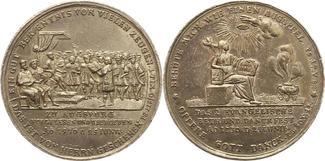 Silbermedaille 1730 Augsburg-Stadt  Sehr schön