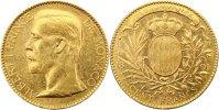 Monaco 100 Francs Gold Albert I. 1889-1922.