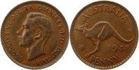 Penny 1948 Australien George VI. 1936 - 1952. Sehr schön +  75,00 EUR  zzgl. 4,00 EUR Versand