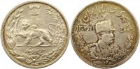 Iran 5000 Dinars (5 Kran) Sh Ahmad Shah 1909-1925 AD.