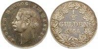 1/2 Gulden 1856 Nassau Adolph 1839-1866. Sehr schön +  65,00 EUR  Excl. 4,00 EUR Verzending