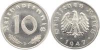 10 Pfennig Probe 1947  D Alliierte Besetzung  Prägefrisch  975,00 EUR kostenloser Versand