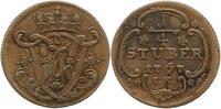 Köln-Erzbistum 1/4 Stüber 1 Maximilian Friedrich von Königseck 1761-1784.