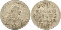 1/6 Taler 1751  A Brandenburg-Preußen Friedrich II. 1740-1786. Sehr sch... 55,00 EUR  Excl. 4,00 EUR Verzending
