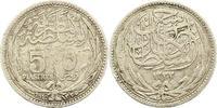 Ägypten 5 Piastres Hussein Kamil 1914-1917, Britisches Protektorat.
