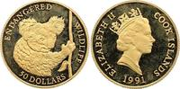 50 Dollar Gold 1991 Cook-Inseln Elizabeth II. Seit 1952. Polierte Platt... 185,00 EUR  zzgl. 4,00 EUR Versand