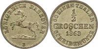 Braunschweig-Calenberg-Hannover 1/2 Groschen Georg V. 1851-1866.