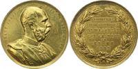 Haus Habsburg Vergoldete Bronzemedaille Franz Joseph I. 1848-1916.