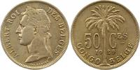 50 Centimes 1929 Zaire-Belgisch-Kongo Albert I. 1909-1934. Sehr schön +  55,00 EUR  +  4,00 EUR shipping