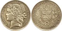 Peseta 1880  B Peru  Schöne Patina. Vorzüglich - Stempelglanz  135,00 EUR  Excl. 4,00 EUR Verzending