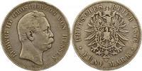 Hessen 5 Mark Ludwig III. 1848-1877.