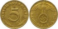 5 Pfennig 1936  D Drittes Reich  Sehr schön +  60,00 EUR  zzgl. 4,00 EUR Versand