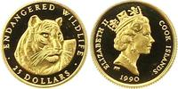 25 Neuseeland-Dollar Gold 1990 Cook-Inseln Elizabeth II. Seit 1952. Pol... 58,00 EUR  zzgl. 4,00 EUR Versand