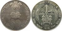 50 Rupees 1976 Indien  unz.  55,00 EUR  zzgl. 4,00 EUR Versand