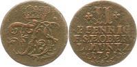 Sachsen-Weimar-Eisenach 2 Pfennig Friedrich III. von Gotha-Altenburg, als Vormund 1749-1755.