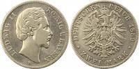 2 Mark 1880  D Bayern Ludwig II. 1864-1886. Schön - sehr schön  100,00 EUR  Excl. 4,00 EUR Verzending