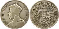 1/2 Crown 1933 Neuseeland  Schön - sehr schön  15,00 EUR  zzgl. 4,00 EUR Versand