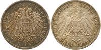 3 Mark 1908  A Lübeck  Schöne Patina. Winz. Randfehler, vorzüglich  155,00 EUR  + 4,00 EUR frais d'envoi