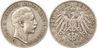 2 Mark 1891  A Preußen Wilhelm II. 1888-1918. Sehr schön  25,00 EUR  + 4,00 EUR frais d'envoi