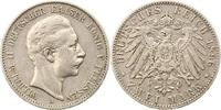 2 Mark 1896  A Preußen Wilhelm II. 1888-1918. Sehr schön  18,00 EUR  + 4,00 EUR frais d'envoi