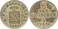 1/2 Neugroschen 1841  G Sachsen-Albertinische Linie Friedrich August II... 32,00 EUR  + 4,00 EUR frais d'envoi