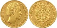 10 Mark Gold 1875  D Bayern Ludwig II. 1864-1886. Sehr schön  215,00 EUR  + 4,00 EUR frais d'envoi