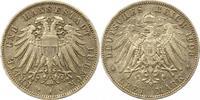 3 Mark 1908  A Lübeck  Sehr schön +  135,00 EUR  + 4,00 EUR frais d'envoi