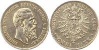 2 Mark 1888  A Preußen Friedrich III. 1888. Henkelspur, sehr schön  35,00 EUR  + 4,00 EUR frais d'envoi