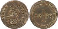 Pfennig 1758 Münster-Stadt  Sehr schön - vorzüglich  32,00 EUR  + 4,00 EUR frais d'envoi