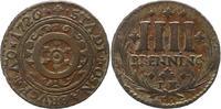 4 Pfennig 1726 Osnabrück-Stadt  Sehr schön  22,00 EUR  + 4,00 EUR frais d'envoi