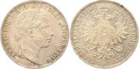 Gulden 1861  A Haus Habsburg Franz Joseph I. 1848-1916. Fast Stempelglanz  38,00 EUR  + 4,00 EUR frais d'envoi