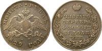 Rubel 1829 Russland Nikolaus I. 1825-1855. Sehr schön  165,00 EUR  + 4,00 EUR frais d'envoi
