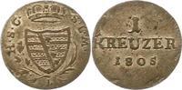 1 Kreuzer 1805  L Sachsen-Coburg-Saalfeld Franz 1800-1806. Sehr schön -... 45,00 EUR  + 4,00 EUR frais d'envoi