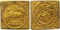 1/4 Lammdukatenklippe Gold 1700 Nürnberg-Stadt  Fast Stempelglanz  375,00 EUR envoi gratuit