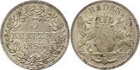 3 Kreuzer 1856 Baden-Durlach Friedrich I. 1852-1907. Fast Stempelglanz  42,00 EUR  zzgl. 4,00 EUR Versand