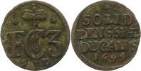 Schilling 1699  SD Brandenburg-Preußen Friedrich III. 1688-1701. Selten... 18,00 EUR  zzgl. 4,00 EUR Versand