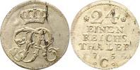 1/24 Taler 1754  C Brandenburg-Preußen Friedrich II. 1740-1786. Schrötl... 20,00 EUR  zzgl. 4,00 EUR Versand