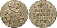 1/48 Taler 1753  F Brandenburg-Preußen Friedrich II. 1740-1786. Sehr sc... 20,00 EUR  zzgl. 4,00 EUR Versand