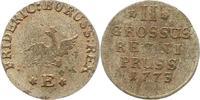 2 Gröscher 1 1773  E Brandenburg-Preußen Friedrich II. 1740-1786. Sehr ... 45,00 EUR  zzgl. 4,00 EUR Versand