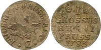 Groschen 1783  E Brandenburg-Preußen Friedrich II. 1740-1786. Sehr schö... 32,00 EUR  zzgl. 4,00 EUR Versand
