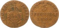 Cu 3 Pfennig 1844  D Brandenburg-Preußen Friedrich Wilhelm IV. 1840-186... 25,00 EUR  zzgl. 4,00 EUR Versand