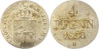 Braunschweig-Calenberg-Hannover 4 Pfennig Ernst August 1837-1851.