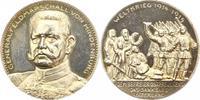 Erster Weltkrieg Silbermedaille Hindenburg, Paul von Beneckendorff und von *1847 Posen, +1934 Neudeck/Westpreuße