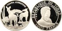 Tschad / Tchad 1000 Francs Republik 1962 - heute.