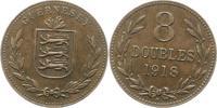 Großbritannien-Guernsey 8 Doubles Guernsey 1000 - 2100.