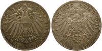 5 Mark 1907  A Lübeck  Schöne Patina. Winz. Randfehler, sehr schön +  595,00 EUR free shipping