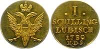 Lübeck-Stadt Goldabschlag von den Stempeln des Schilling Gold 1789 Vorzüglich +